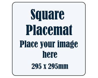 PERSONALISED SQUARE PLACEMATS - timber/cork with your own image/artwork - set of 4