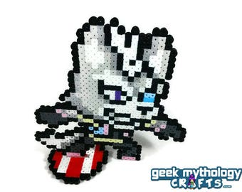Wolf O'Donnell - Star Fox - Super Smash Bros Nintendo - Perler Bead Sprite Pixel Art Figure Stand or Lanyard Necklace