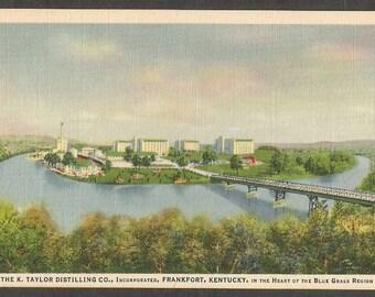 Frankfort, Kentucky Vintage Postcard - K. Taylor Distillery Co. Bourbon Whiskey (Unused)