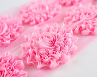 """Pink Glitter : 12 Flowers  