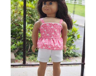 18 inch Dolls Clothes - American - Girl Doll Clothes - Shorts Outfit