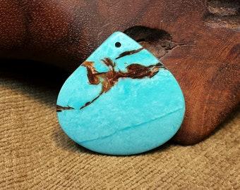 Eye-catching Bornite & Blue Turquoise Squat Teardrop Waterdrop