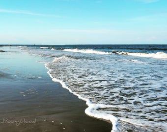 Photograph: Sea Foam Ocean Photo 5x7 print