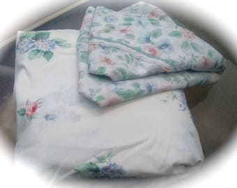 Re Mix King Sheets / Fitted Floral Sheet / Floral Pillowcases / Re Mix Sheet Set / Retro Bedding / Vintage Bedding / King Bedding