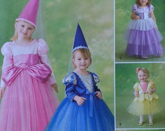 Halloween Princesses and Witch Costume Pattern Simplicity 2569 Childrens Costume Pattern  Toddler Childrens Size 4,5,6,7,8,