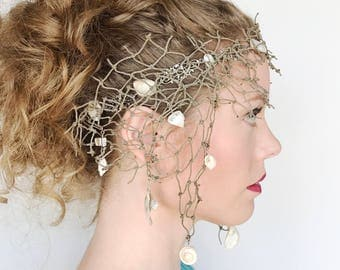Fisher-Mans Net Mermaid Headdress