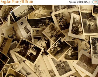 ON SALE Vintage Black and White Photo Lot of Two Dozen