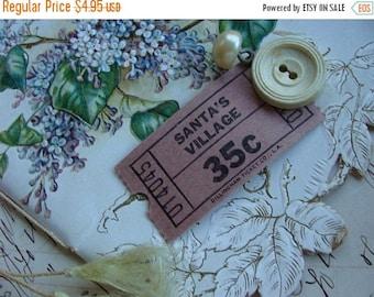 ONSALE Dozen Rare Antique Vintage Christmas Gorgeous  Santa's Village Tickets