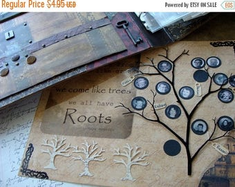 ONSALE Die Cut Trees Family Roots Antique Ledger Family Trees for Weddings and Scrapbooks