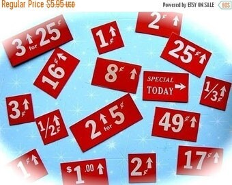 ONSALE Dozen Antique Vintage Price Tags Totally Awesome Pricing System