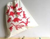 Dinosaur Drawstring Tote Bag - can be personalised