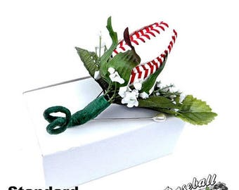 JUNE SALE: Baseball Rose Boutonniere or Corsage