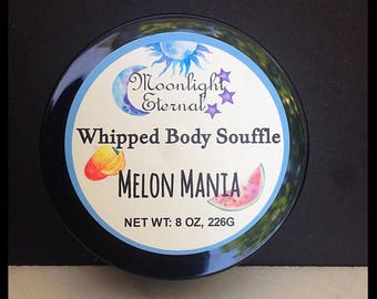 Melon Mania Whipped Body Souffle - Body Butter - Body Cream - Lotion - Melon Scent - 8oz - Paraben Free!
