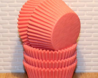 NEW - Coral Heavy Duty Cupcake Liners (32) Coral Baking Cups, Coral Cupcake Liners, Coral Muffin Cups, Cupcake Liners, Baking Cups