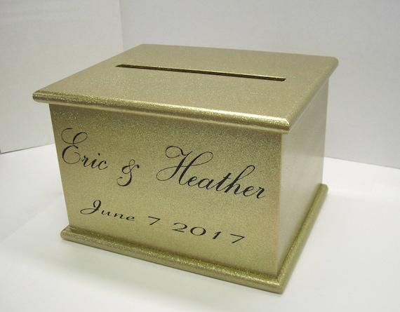 Wedding Card Box With Lock Option Custom Card Box Gold