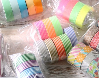 50% off - Set  of 5 and 10 - mt washi masking tape - limited lucky dip sets