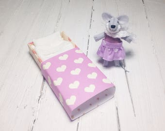 Stuffed animal felt mouse lilac stocking stuffer gift idea for kids under 25