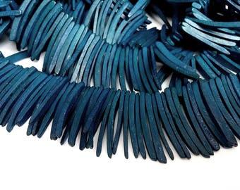 Dark Blue Wood Stick Beads - coconut indian stick 1.5 inch - 25pcs  (PC202AA)