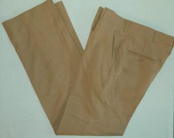 W 32 L 33 Vintage 70s Golf Slacks Hagar Majic Stretch U.S.A. Tan Slacks Pants