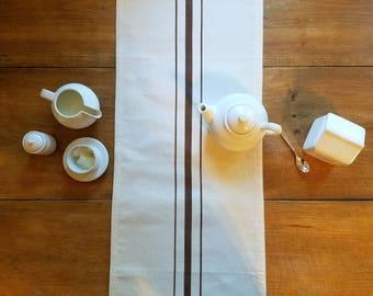 free shipping / grain sack table runner / farm house / farmhouse style / espresso / stripe table runner / thanksgiving / wedding