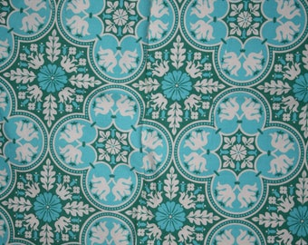 Joel Dewberry fabric notting hill historic tile teal green cotton quilting fabric clearance destash