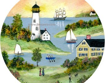 Sailors Valentine Center, ART for Designers Crafters ~ Light House Cove ~ JL. Munro