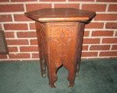 Antique Circa 1900 Art Nouveau Solid Oak Fabulous Hexagonal Plant Stand Taboret Table