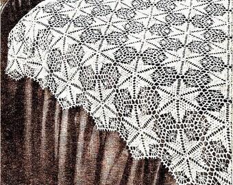 Star Dust Bedspread Crochet Pattern Vintage 723020