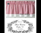 Custom Order for myvalentinegal Gingham Check Red & White Country Farmhouse Curtains Double Layered Kitchen Valances and Tiers Free Shipping