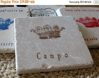 XMASINJULYSale Personalized Royal Crown Absorbent Tile Coasters
