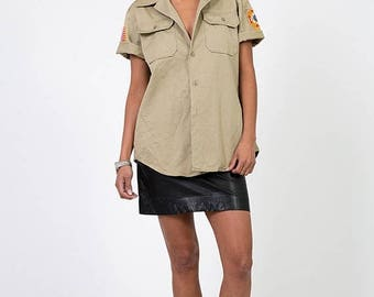 40% SUMMER SALE The Khaki Veterans of Foreign Wars Tan Military Shirt