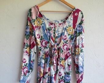 40% OFF Floral Grunge Dress