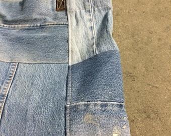 40% OFF The Vintage Indigo Denim Patchwork Work Tote