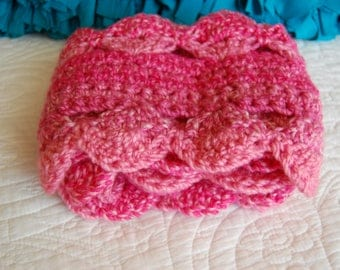 Beautiful Hand-Crocheted Scarf--Free Shipping!