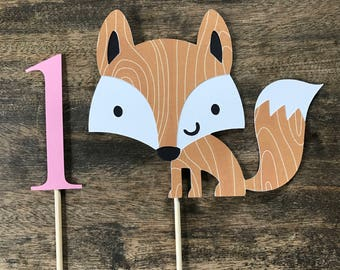 Fox Cake Topper- smash cake, first birthday