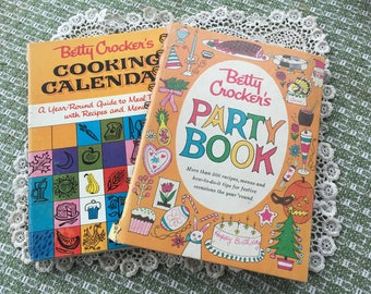 Two Classic Betty Crocker Vintage Cook Books 1960s First Editions