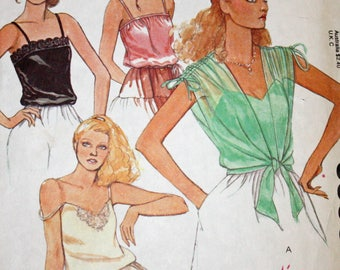 Vintage 1970s Sewing Pattern, McCall's 6395, Misses' Set of Camisoles and Cover-Up, Misses' Size 6, Bust 30 1/2""