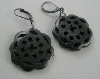 Black Bone Earrings