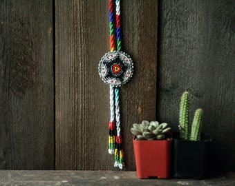 Beaded Bolo Tie Vintage From Nowvintage on Etsy