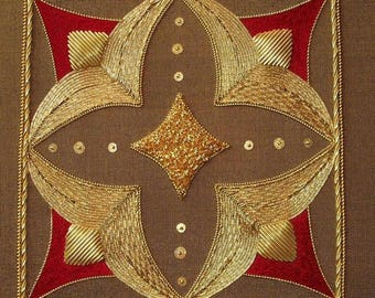 Alison Cole Ruby Jewel Goldwork/Stumpwork/Embroidery Pattern