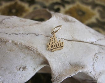 Small 14k Yellow Gold #1 Lady Charm