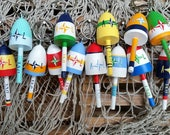 Lobster Buoy Key Chain Wedding Favors, Bright bold mixed colors compass rose, 2017 wedding, 120 custom favors, final payment