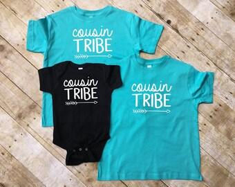 Cousin Tribe. Cousin Tribe shirts. Cousin Crew shirts. Cousin Squad. Cousin Crew. Family shirt set. All sizes. Cousins Best Friends