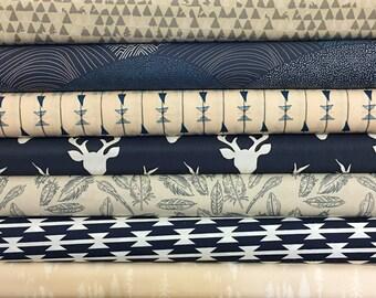 Us navy fabric etsy for Constellation fleece fabric
