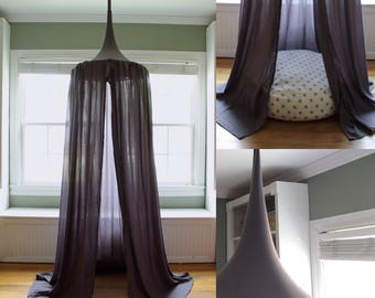 Play Canopy - Storm- Dark Gray - Hanging Play Tent - Kids Canopy - Bed Canopy