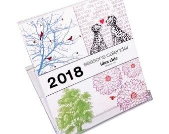 2018 Seasons Desk Calendar