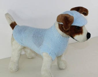 50% OFF SALE madmonkeyknits - Small Dog 4 Ply Coat and Peak Cap knitting pattern pdf download - Instant Digital File pdf knitting pattern