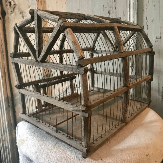 Antique Bird Cage, Dove Cage, French Antique Bird Cage.