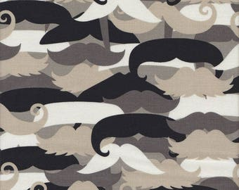 Michael Miller Fabric Mustachioed Man, Choose your cut