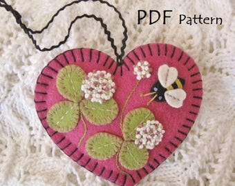 PDF Pattern - All In Clover Ornament